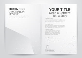 Modern flyer background with polygons and white space.