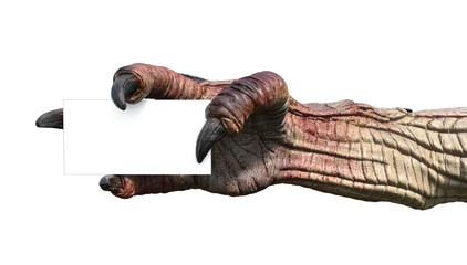 Monster Hand with Business Card