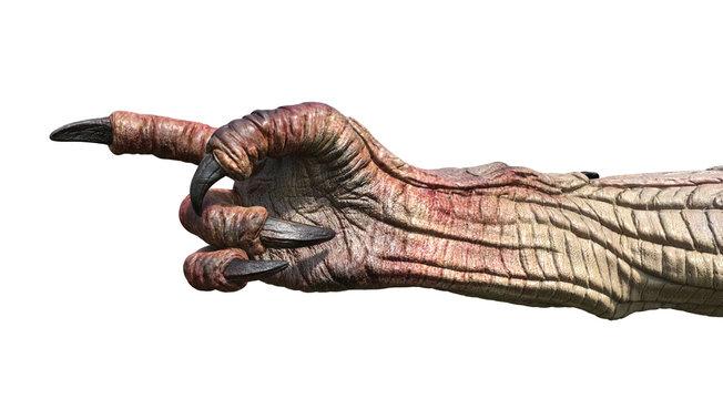 Monster Hand Pointing Finger