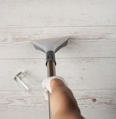 Cleaning wooden floor service