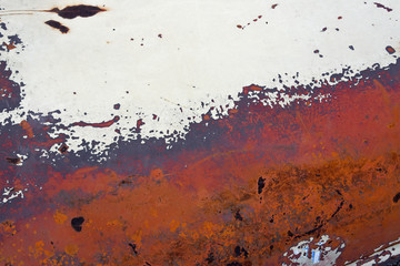 abstract partial view of weathered car paint