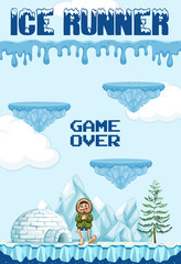 Ice Runner Game Element