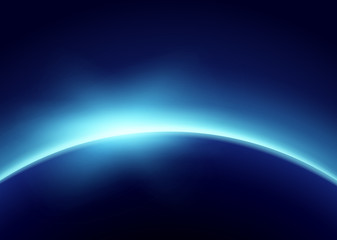 Earth with Blue Light