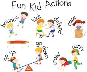 Fun Kid Actions playground illustration