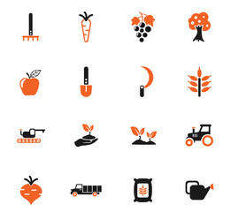agricaltural icon set