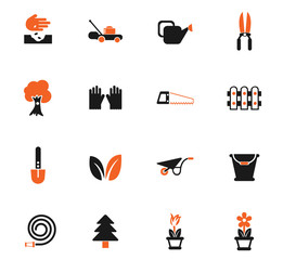 landscape design color icon set