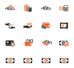 money symbols icon set