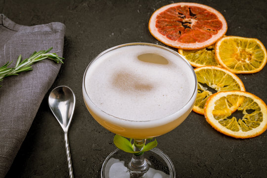 cocktail with citrus