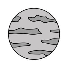 full moon night surface nature image vector illustration
