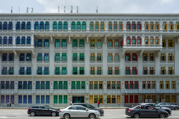 A colorful building in Singapore