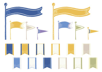 手書き 旗 セット
