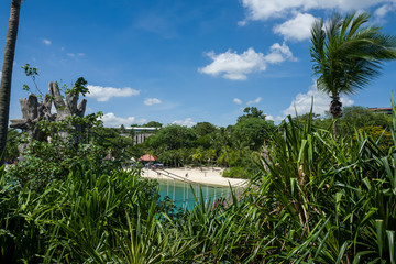 The Sentosa Beach in Singapore