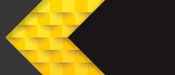 Yellow and black abstract background vector with blank space for text.
