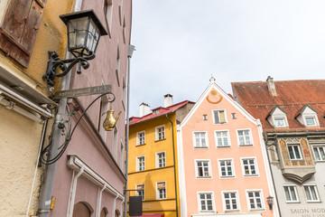 Bunte Fassaden in der Altstadt von Füssen
