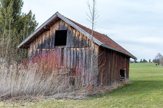 Alte Holzhütte im Allgäu
