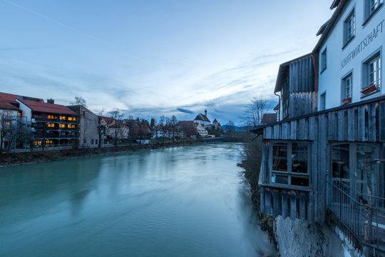Der Lech in Füssen am frühen Morgen