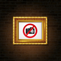 prohibition to take pictures