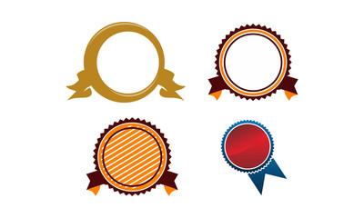Template Emblem Blank Set