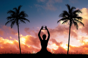 i love doing yoga to sunset