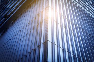 Fond de hotte en verre imprimé Pont The architectural landscape of the commercial building in the city center of the city