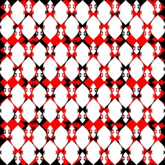 Lacy seven red black white