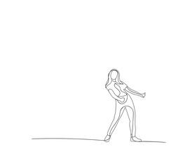 sketch of a girl dancing