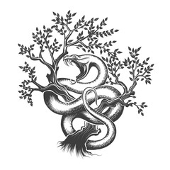 The Snake On a Tree