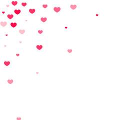 Heart confetti background.