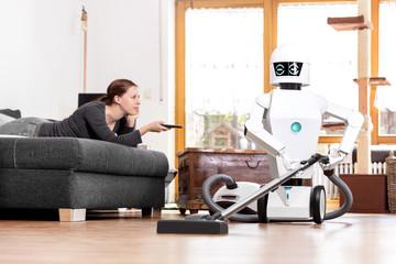 Haushaltsroboter mit Staubsauger