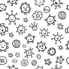 Seamless rotovirus pattern