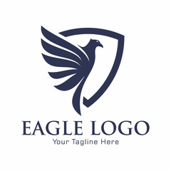Eagle and Shield Logo Vector Template