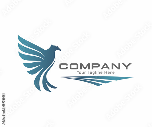 eagle logo vector template stock image and royalty free vector