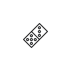 domino icon. sign design