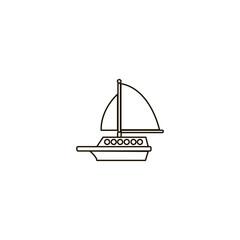 ship icon. sign design