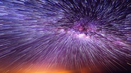 Night sky with vortex star trails. Fotobehang