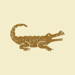 Crocodile silhouette vector icon