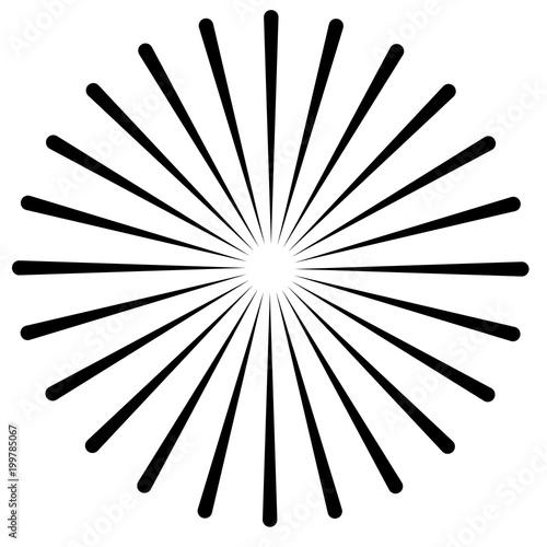rays beams element sunburst starburst shape on white radiating rh eu fotolia com
