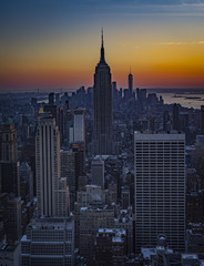 Empire State Building at sunset taken by Sandra Meng; New York City, USA; Dec 2017