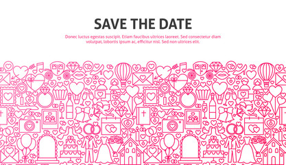 Save the Date Web Concept