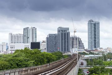 building and cityscape Bangkok skyline, Thailand.
