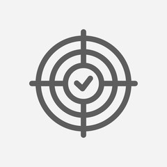 Result oriented icon line symbol. Isolated vector illustration of  icon sign concept for your web site mobile app logo UI design.