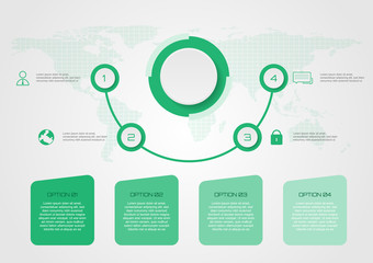 Infographic elements. vector concept green color some Elements of this image furnished by NASA