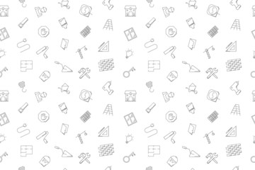 Vector construction pattern. Construction seamless background