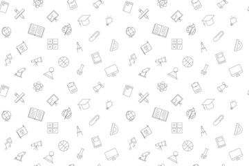 Vector education pattern. Educattion seamless background