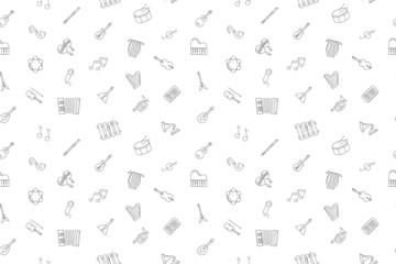 Vector music pattern. Music seamless background