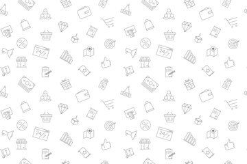 Vector sale pattern. Sale seamless background