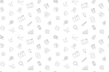 Vector seo pattern. Seo seamless background