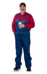 Relaxed confident farmer, gardener of laborer