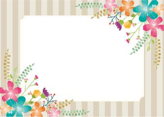 水彩の花のフレーム2