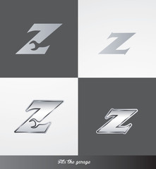 eps Vector image: initials (Z) Fits the garage logo